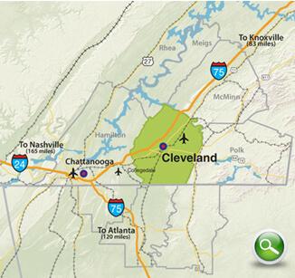 Bradley County Map