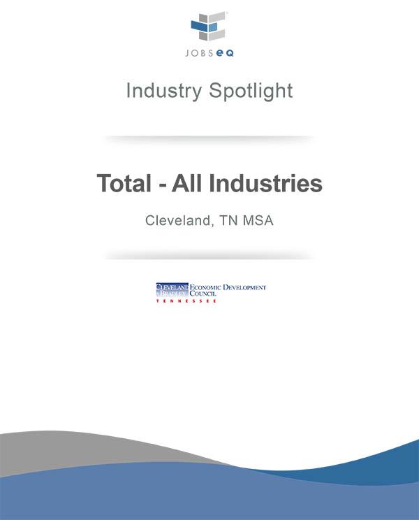 Industry Spotlight - Total - All Industries, Cleveland, TN MSA